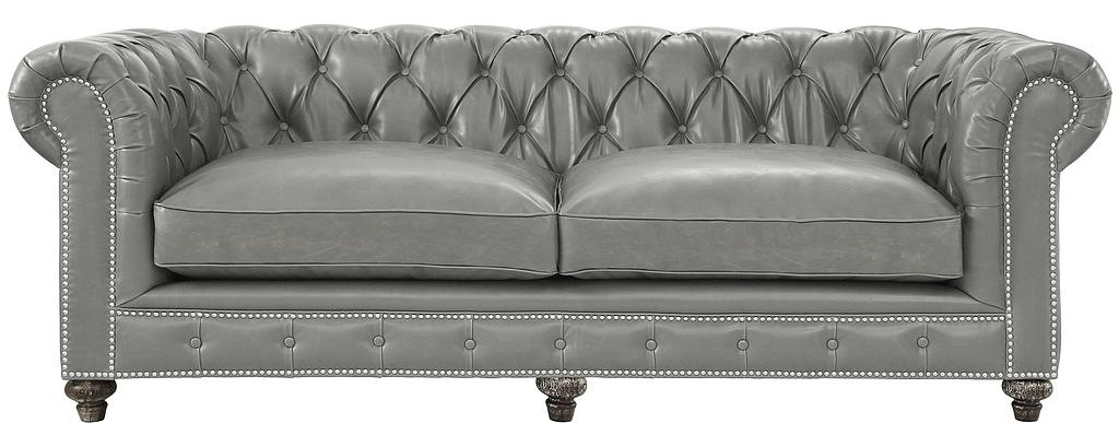 Chesterfield Rustic Blue Leather Sofa - Vintage Leather Sof