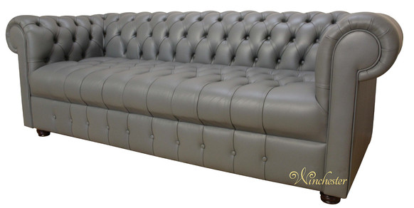 Chesterfield Thomas 3 Seater Sofa Settee Buttoned Seat Soft Iron .