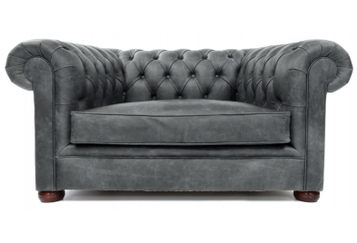 Grey Leather Chesterfield Sofas, quality handmade Grey Chesterfiel
