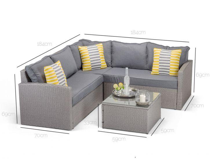 Dimensions of Calabria corner sofa in grey rattan | Furniture sofa .