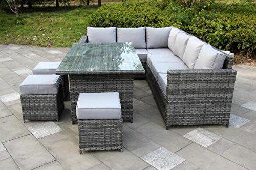 Rattan Garden furniture | Grey rattan garden furniture, Rattan .
