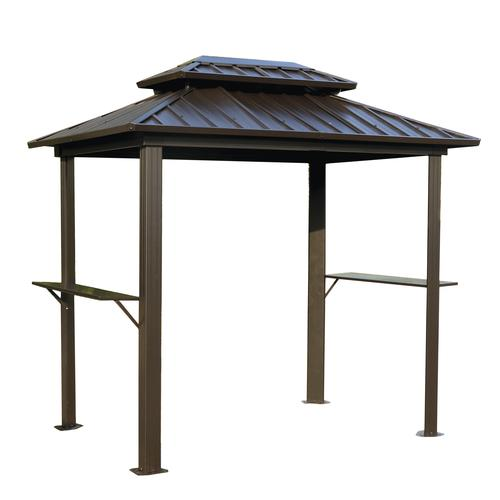Backyard Creations® Concord Steel Roof Grill Gazebo at Menards