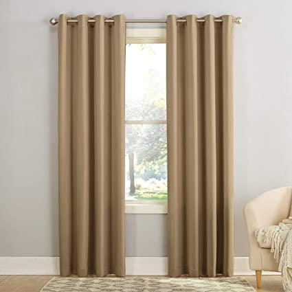 Amazon.com: Sun Zero Barrow Energy Efficient Grommet Curtain Panel .