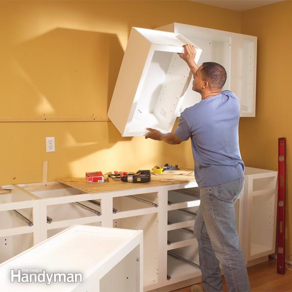How to Install Kitchen Cabinets | Family Handym
