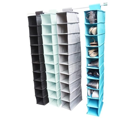 TUSK College Storage - Hanging Shoe Shelves Storage Closet .