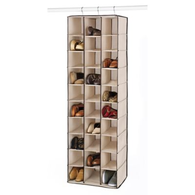 Whitmor 30 Section Hanging Shoe Shelves in Beige | Bed Bath & Beyo