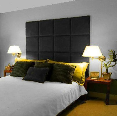 Details about MONACO WALL PANEL LARGE TALL HEADBOARD DOUBLE .