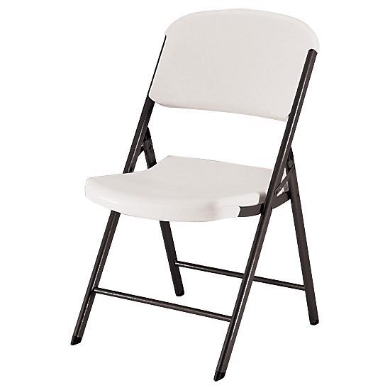 Lifetime® Heavy - Duty Plastic Seat Folding Chair | FlagHou