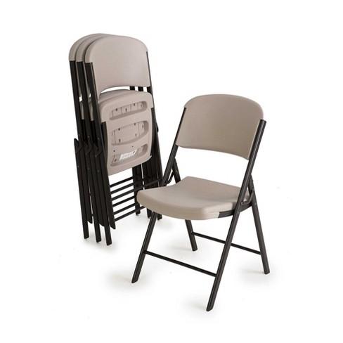 4pc Heavy Duty Folding Chair Putty - Lifetime : Targ