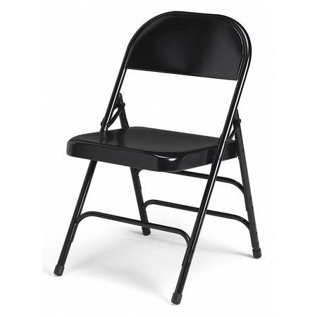 Folding Chair - 05 Heavy Duty Steel Folding Chair, Black 331D/BL .