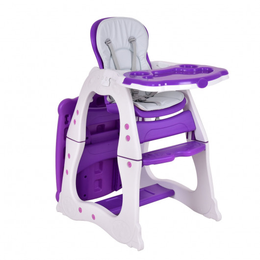 3-in-1 Convertible Play Table Seat Baby High Chair - High Chairs .