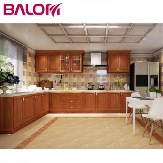 China High-end chinese knock down cabinets pvc membrane Kitchen .