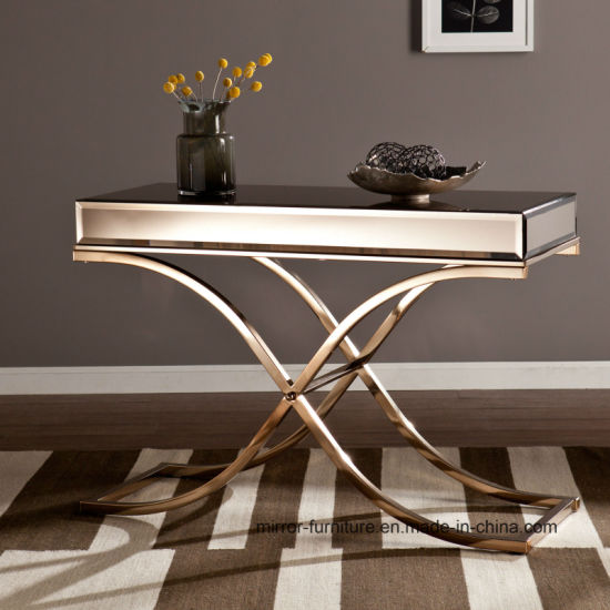 China Professional High Quality Stainless Steel Mirrored Console .