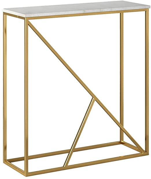 Amazon.com: ZPWSNH Nordic Marble Entrance Table Simple Wall Side .