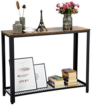 Amazon.com: Topeakmart 2 Tier Industrial Console Sofa Side Table .