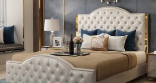 High Quality Bed With Stainless Steel Hem Headboard From .
