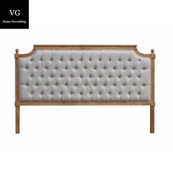 Bedroom Furniture Tufted Queen Size Bed Headboard Linen Fabric .