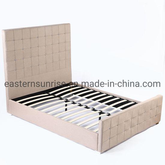 China High Quality PU Leather Bed High Headboard Elegant Style .