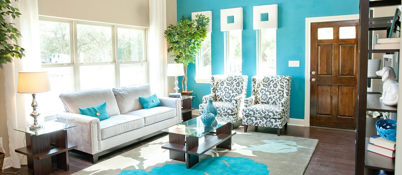 Blue home decor ideas for spring (19 PIC