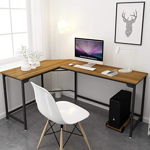 Amazon.com: SimLife L Shaped Desk Corner Gaming Computer Desks for .