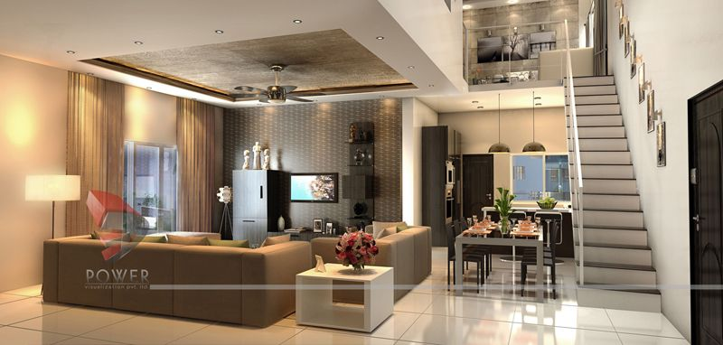 3D House Interior Design Rendering - 3D Power (With images .