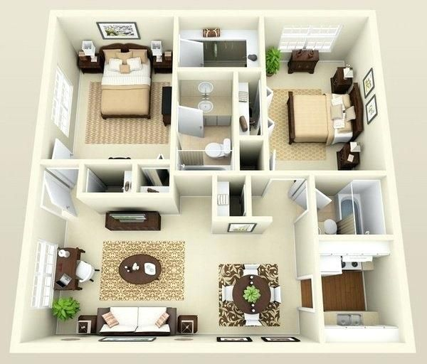 House Interior Design Ideas on Modern Lines | Apartment layout .