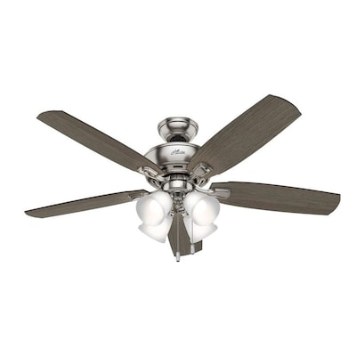 Hunter Amberlin LED 52-in Satin Nickel LED Indoor Ceiling Fan with .