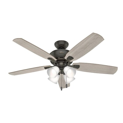 Hunter Amberlin LED 52-in Satin Bronze LED Indoor Ceiling Fan with .