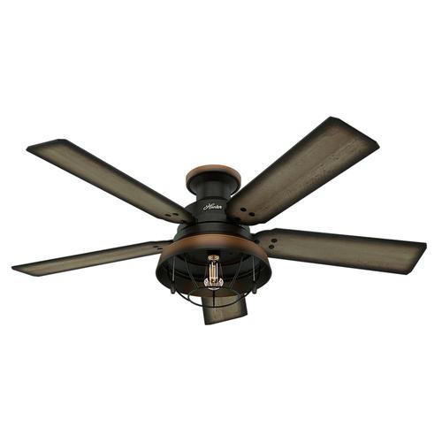 """Hunter® Landsdowne 52"""" LED Cheyenne Bronze Indoor/Outdoor Ceiling ."""