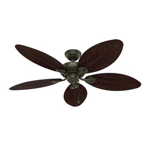 """54"""" Bayview Outdoor Ceiling Fan Black - Hunter Fan : Targ"""