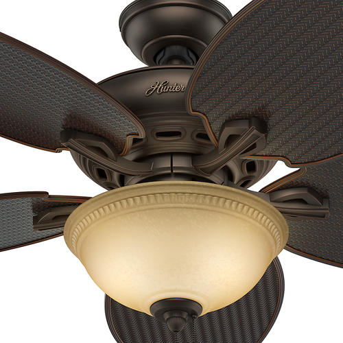 """Hunter® Cape Breton® 52"""" Brushed Cocoa Outdoor Ceiling Fan at Menards"""