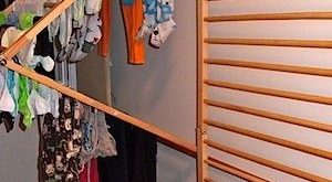 Brilliant indoor clothes drying rack by Th3m1s   Wall mounted .