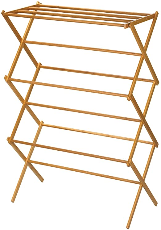 Amazon.com: Household Essentials 6524 Tall Indoor Folding Wooden .