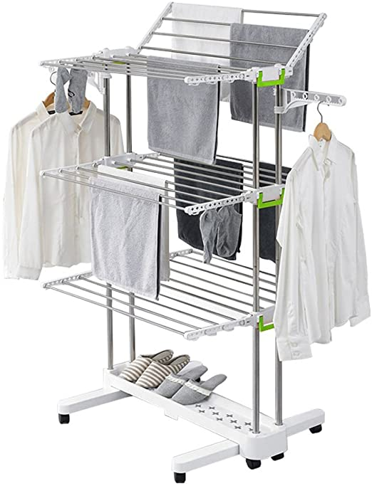 Amazon.com: Newerlives BR505 3-tier Collapsible Clothes Drying .