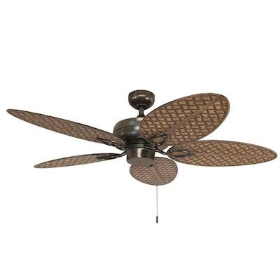 Harbor Breeze Tilghman II 52-in Bronze Indoor/Outdoor Ceiling Fan .