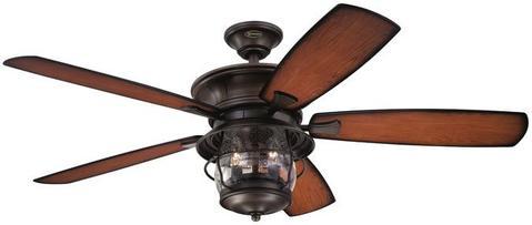 Brentford 52-Inch Reversible Five-Blade Indoor/Outdoor Ceiling Fan .