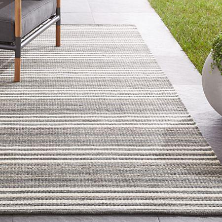 Hesper Striped Indoor/Outdoor Rug | Crate and Barr