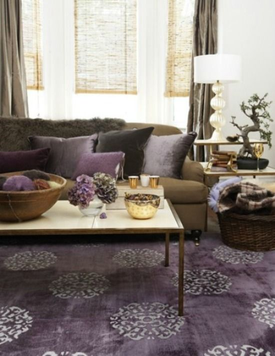 Purple Style Files | Living room colors, Home decor, Room colo