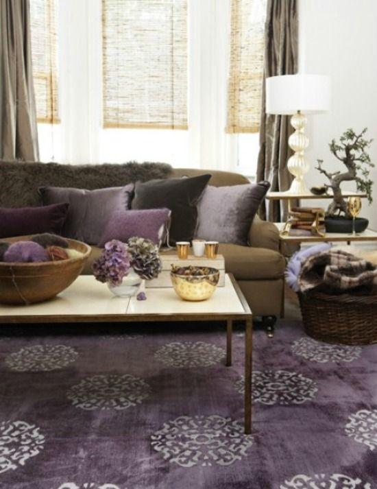 Purple Style Files   Living room colors, Home decor, Room colo