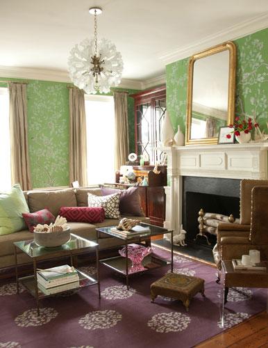 Purple Rug - Eclectic - living room - Jenny Keenan Interior Desi