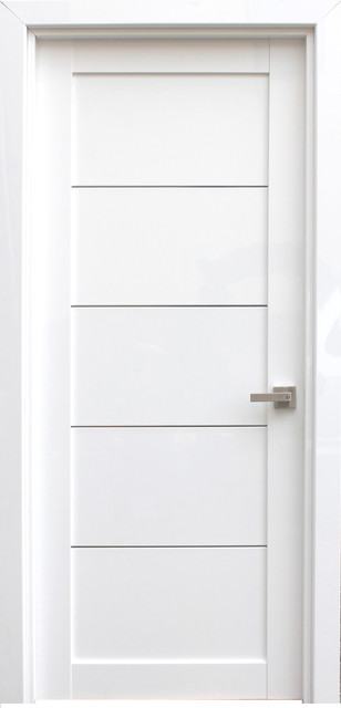 ELDORF White Lacquered Modern Interior Door - Contemporary .