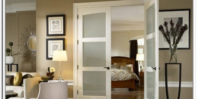 French doors with frosted glass for the bedroom | Double doors .