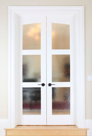 frosted glass french interior doors - Google Search (With images .