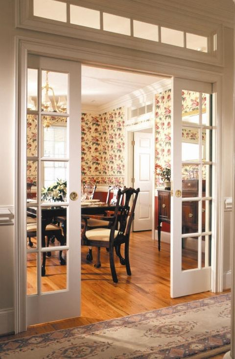 French glass pocket doors! | French doors interior, French pocket .