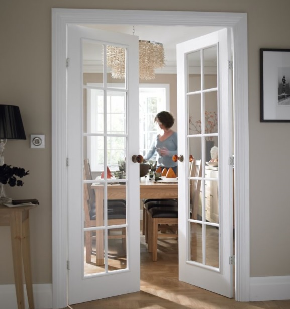 Interior french doors with clear glass | Home Doors Design .