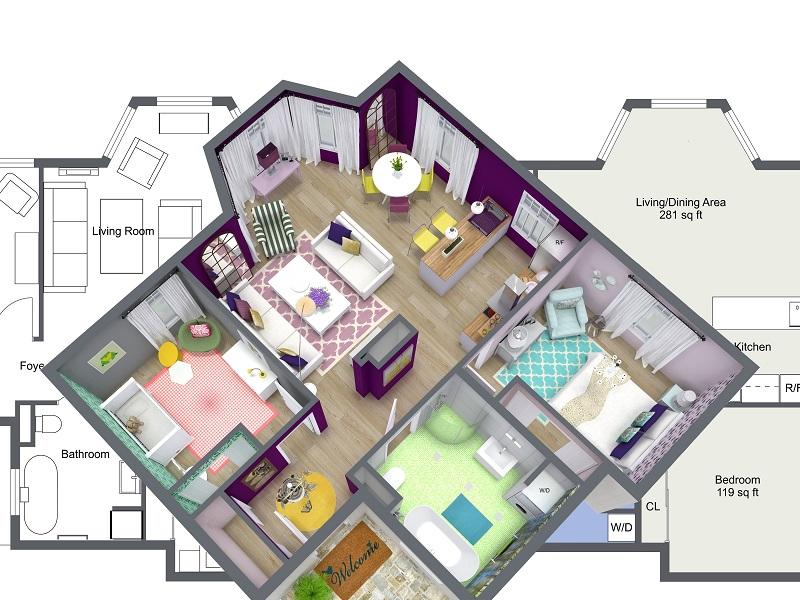 interior designing plans - Bar