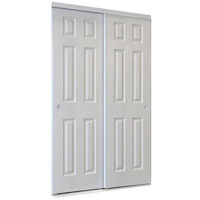 ReliaBilt 9205C Series White 6-Panel Steel Sliding Closet Door .