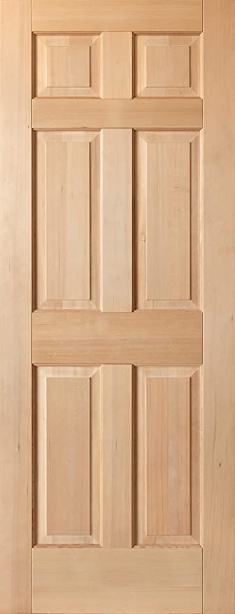 Amazon.com: Solid Hemlock 6-Panel Interior Wood Doors, Pocket .