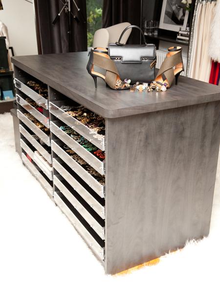 Custom Closet Design: Jewelry Organizers in Closet Island | Closet .
