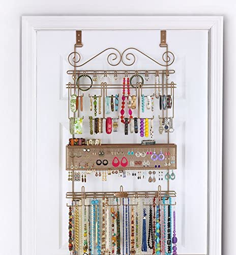 Amazon.com: Longstem Over The Door or Wall Jewelry Organizer #7100 .